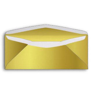Sobre metálico elegante del negocio del oro