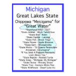 Sobre Michigan Tarjeta Postal