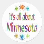 Sobre Minnesota Etiquetas Redondas