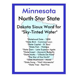 Sobre Minnesota Tarjeta Postal