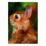 Sobre mis tarjetas de visita del perfil del conejo