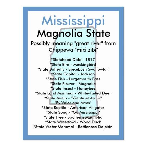 Sobre Mississippi Tarjeta Postal