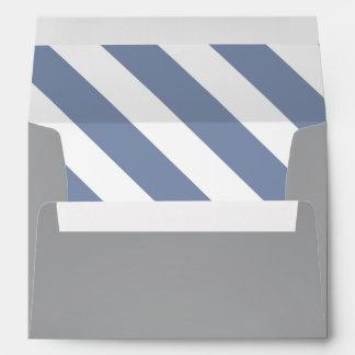Sobre moderno blanco y gris azul de las rayas