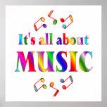 Sobre música poster