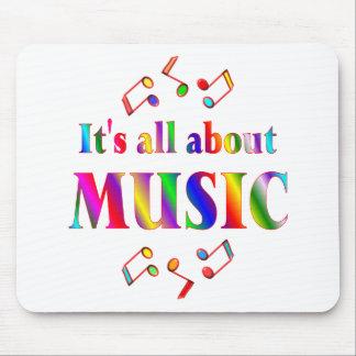 Sobre música tapetes de ratón