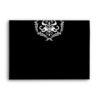 sobre negro 5x7 del damasco 311-Exqusite