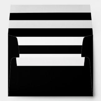 Sobre negro con un trazador de líneas rayado negro