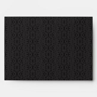Sobre negro del cordón - tarjeta de felicitación A