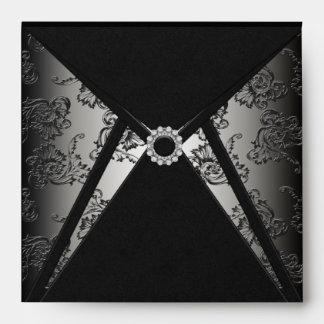 Sobre negro elegante del cuadrado del diamante del