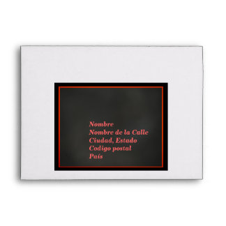 Sobre - Negro, Naranja y Rosa Envelopes
