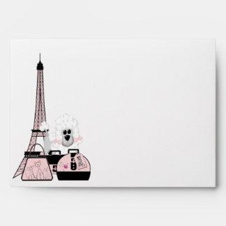 Sobre negro rosado del caniche de París de la torr