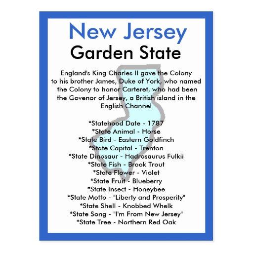 Sobre New Jersey Tarjetas Postales