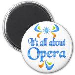 Sobre ópera imán de frigorifico