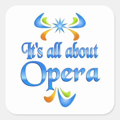 Sobre ópera pegatina cuadrada