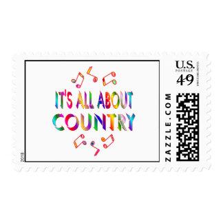 Sobre país sello