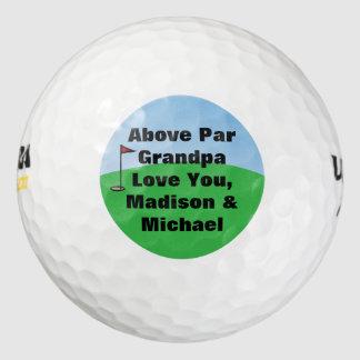Sobre par personalizado personalizado pack de pelotas de golf