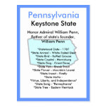 Sobre Pennsylvania Tarjetas Postales