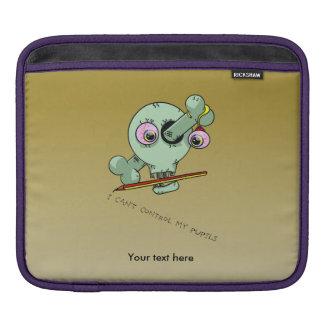 Sobre personalizable trabajado del cráneo del funda para iPads