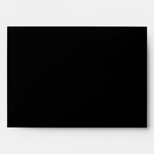 Sobre personalizado 5x7 del BRILLO del NEGRO y del