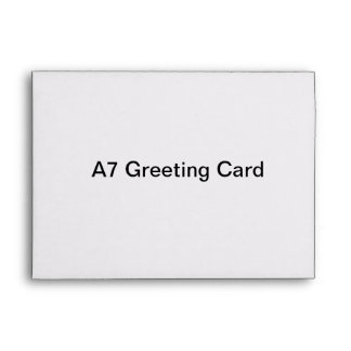 Sobre personalizado de la tarjeta de felicitación