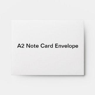 Sobre personalizado de la tarjeta de nota A2