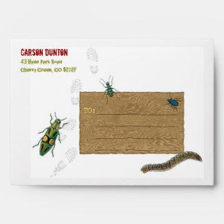 Sobre personalizado fiesta de la caza del insecto