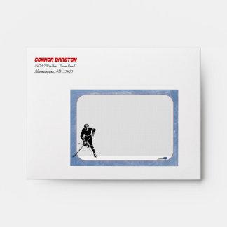 Sobre personalizado hockey