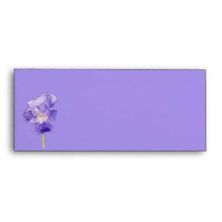 Sobre púrpura de la tarjeta #10 del iris púrpura