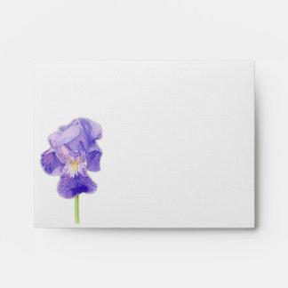 Sobre púrpura de la tarjeta de nota del iris A2