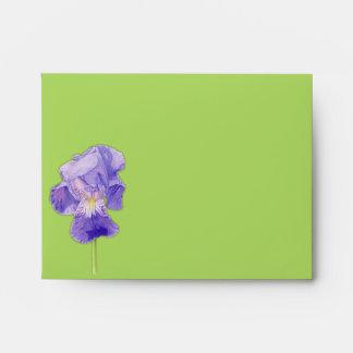 Sobre púrpura de la tarjeta de nota del verde A2 d