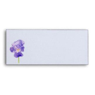 Sobre púrpura de la tarjeta del iris #10