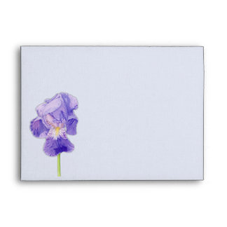 Sobre púrpura de la tarjeta del iris A7