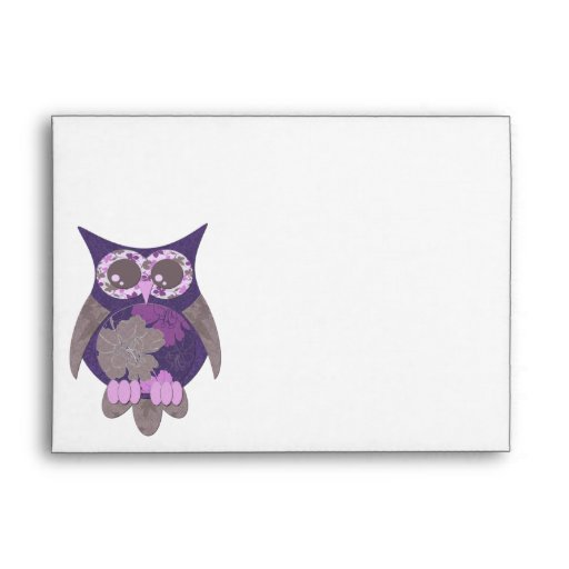 Sobre púrpura del búho del hibisco