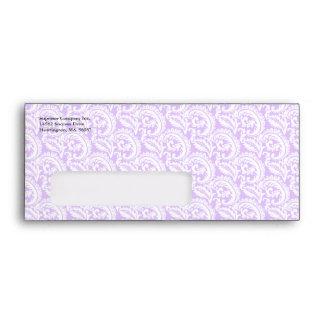Sobre púrpura del negocio #9 de la ventana del