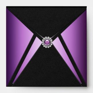 Sobre púrpura elegante del negro del diamante