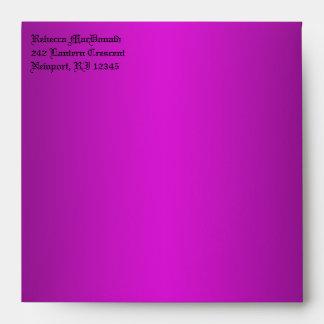 "Sobre púrpura, negro gótico para 5,25"" Sq. Tamaño"