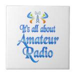 Sobre radio aficionada azulejo cerámica