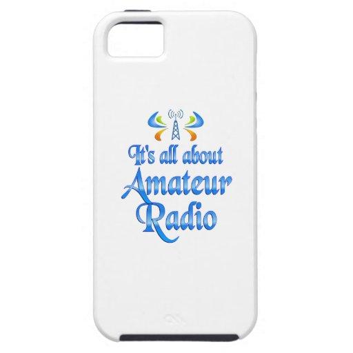 Sobre radio aficionada iPhone 5 funda