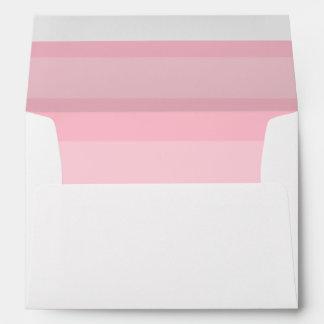 Sobre rayado rosado del personalizado del remite