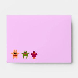 Sobre reciclado A6 rosado de los monstruos de lúpu