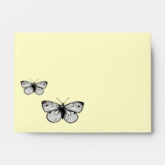 Sobre reciclado mariposa A6 de Rapae del Pieris