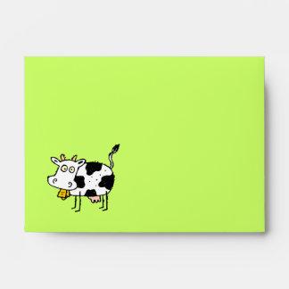 ¡Sobre reciclado vaca enrrollada A6 Moooo de la gr Sobre