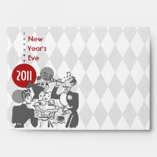 Sobre retro del fiesta del Año Nuevo