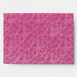 Sobre retro del rosa color de rosa de la hoja del