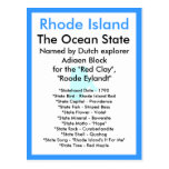 Sobre Rhode Island Tarjeta Postal