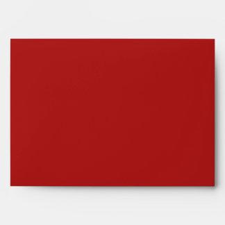Sobre rojo A7 de las rayas del navidad