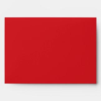Sobre rojo de la tarjeta de felicitación del día d