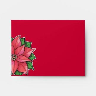 Sobre rojo de la tarjeta de nota A2 de la alegría