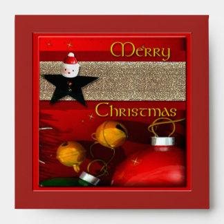 Sobre rojo del navidad