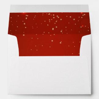 Sobre rojo del navidad de la estrella